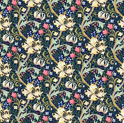 Dolls House Wallpaper 1/12th 1/24th scale Blue Quality Paper #149