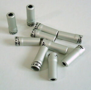 5mm 10pieces gobike88 Alligator Nosed Cable Hose Ferrule End Caps Silver 933