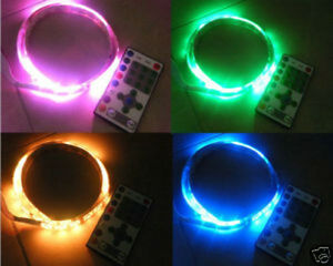 blue green red 10 PCS 10mm RGB fast Flashing color changing Wired LED 9V 12V