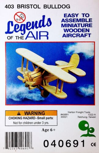 Legends Of The Air /'Bristol Bulldog/' Wooden Aircraft Model Airplane #403 NEW