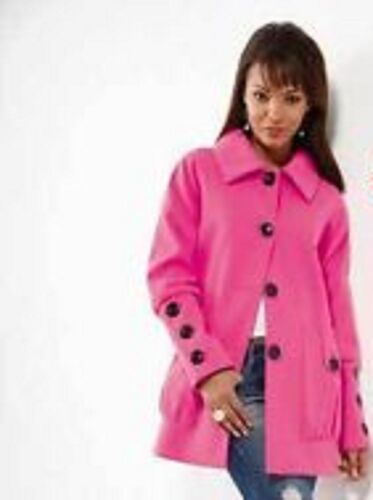 BNWT TG Ladies Cerise Pink  Bubble Sleeve Coat UK Size 12 18