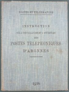 POSTES-amp-TELEGRAPHES-INSTALLATION-ENTRETIEN-LIGNES-TELEPHONIQUES-1918