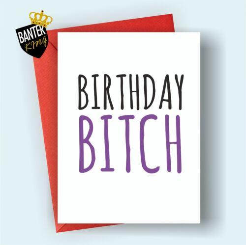 B6 HAPPY BIRTHDAY GREETINGS CARD RUDE FUNNY ADULT JOKE CHEEKY SISTER