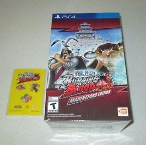 One Piece Burning Blood Marineford Edition PlayStation 4 w/Pin And
