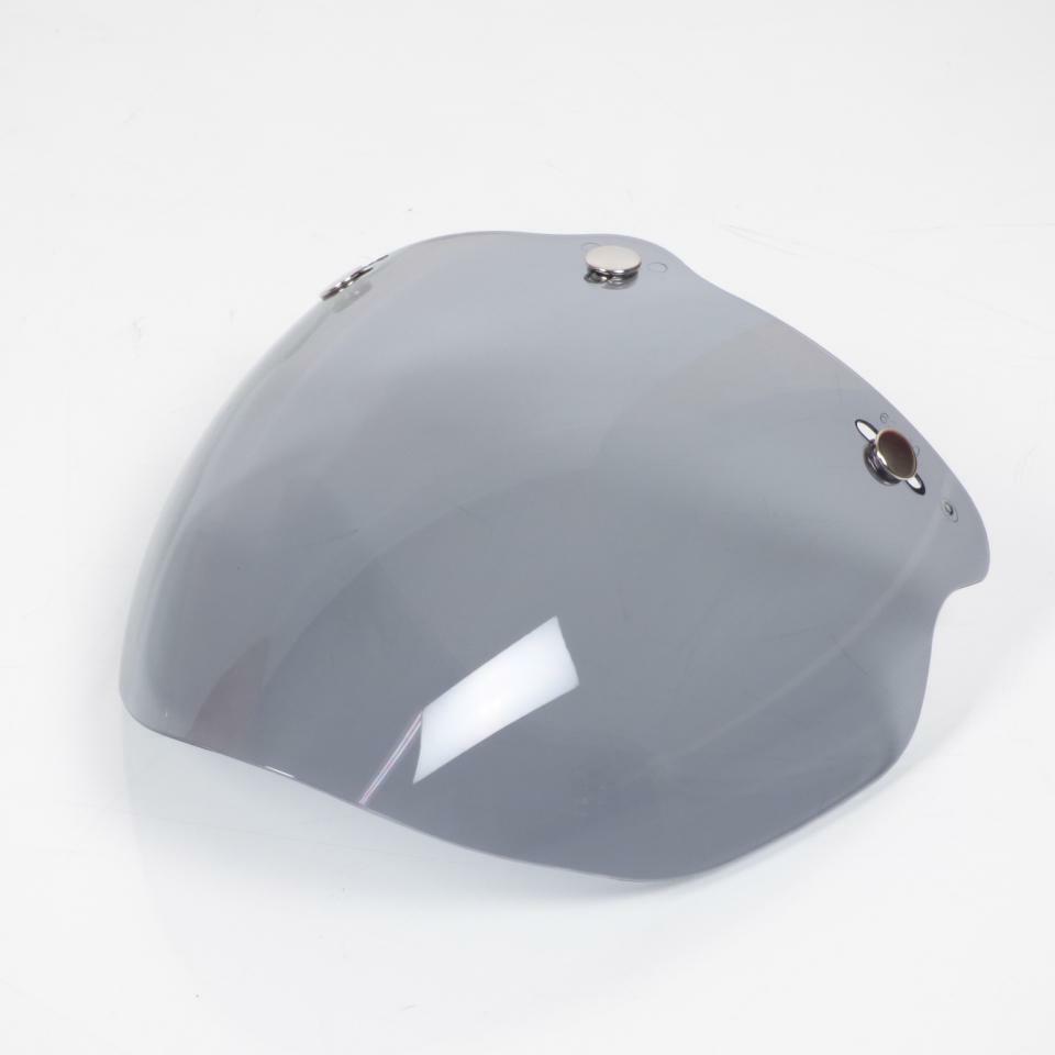 Pantalla plana de 3 presiones para casco moto Jet ahumado claro