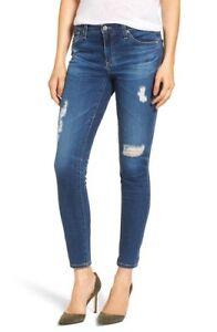 Maat Jeans 31 voor Skinny Farrah 883875366392 New Ankle dames blauw Ag Destructed SxZ7WRwOq