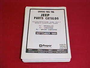 1994 jeep cherokee parts catalog