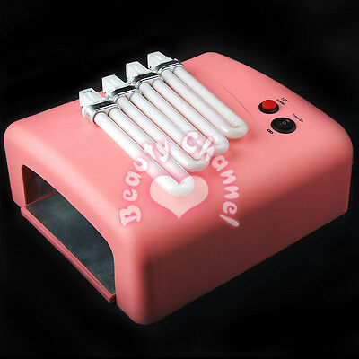 Pro 36W UV Lamp Gel Polish Curing Nail Art Dryer With Timer & 4 Bulbs