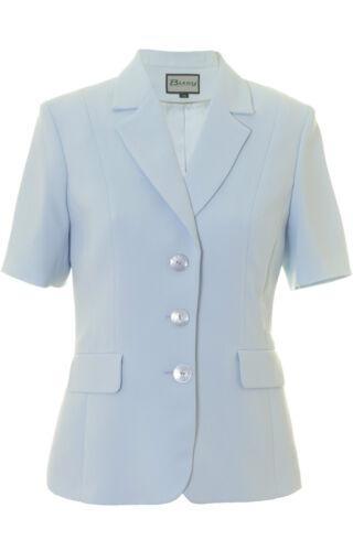 Busy Ladies Light Blue Short Sleeve Jacket