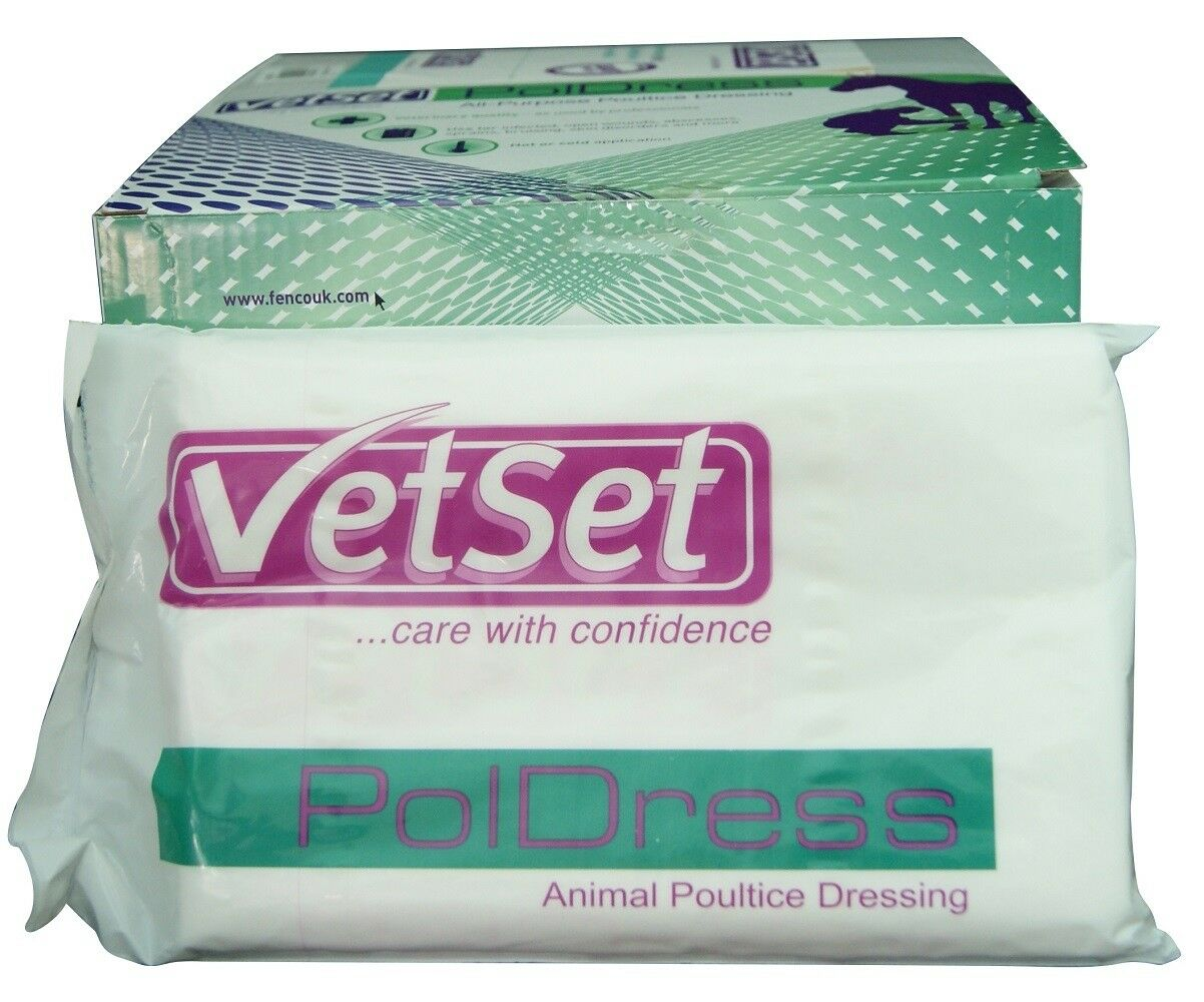 Vetset Poldress Poultice multi-layered and impregnated dressing produced in the