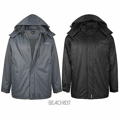 Mens Semi Fleece Lined Winter Waterproof Breathable Coat Jacket Size M To 6xl, Kleidung & Accessoires