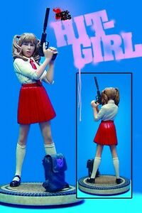 Dynamic Forces Kick Ass Hit Girl School Girl Red Skirt Variant Statue New
