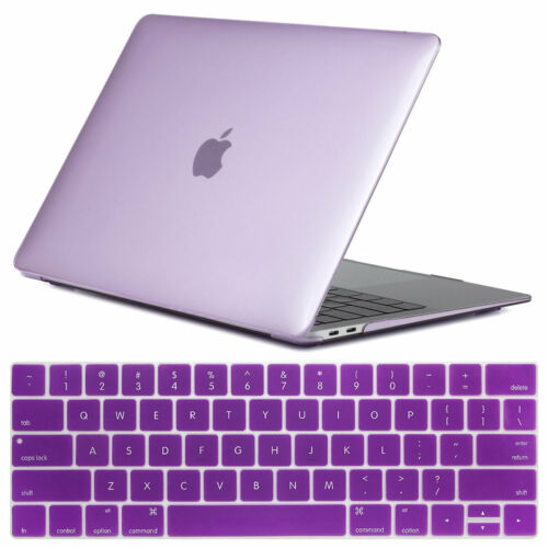 """For Macbook Air 13/"""" Inch 2018 A1932 Clear Rubberized Hard Case Keyboard Cover"""