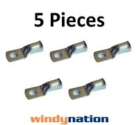 (5) 4 Gauge Awg X 3/8 Inch Copper Lug Battery Cable Connector Terminal Marine