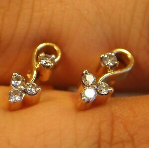 Image Is Loading 22kt Yellow Gold Diamond Earrings F Vvs2 High