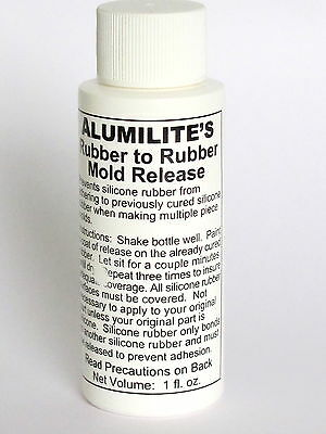 Alumilite Rubber to Rubber silicone mold release Resin casting crafts