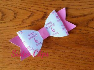 Hand made Birthday Girl Hair Bow bow clip
