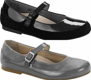 Image is loading BIRKENSTOCK-SHOES-LISMORE-SUEDE-LEATHER-PATENT-LEATHER -WOMEN-