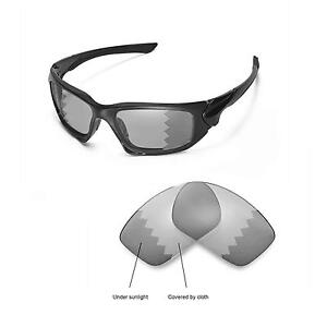 8114ae8223 Image is loading Walleva-Polarized-Transition-Replacement-Lenses-For-Oakley -Scalpel-