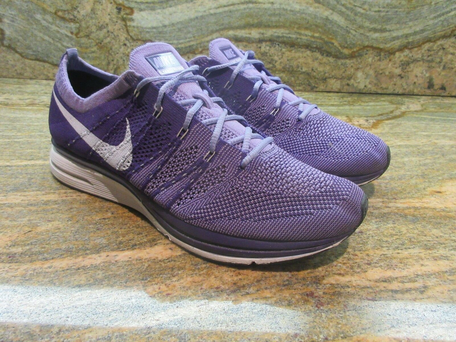 2012 Men's Nike Flyknit Trainer+ SZ 9 Court Purple White Racer purple 532984-551