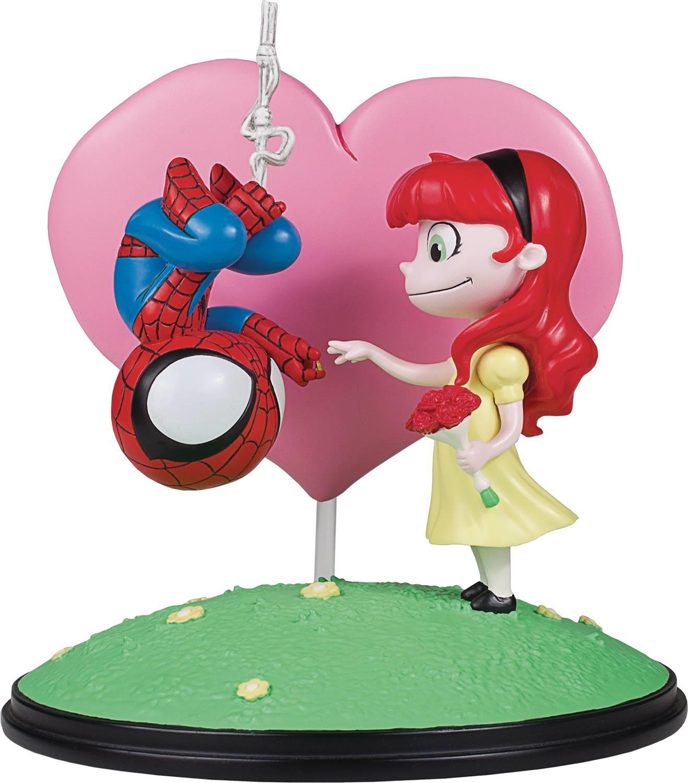 Marvel - spider - man und mary jane animierte statue von sanften riesen