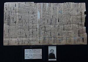 Francois COPPEE Autographe Manuscrit Et Carte De Visite
