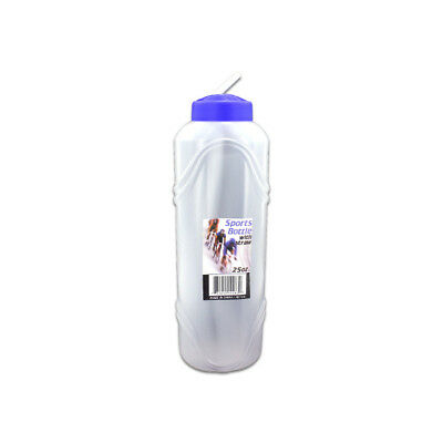 Set Of 24 Bulk Lot 25 Oz Sports Water Bottles With Straw