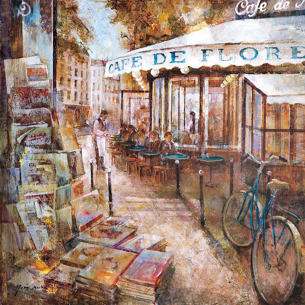 Noemi Martin  st Germain Paris Barella-Immagine Schermo Scena di Strada Caffè
