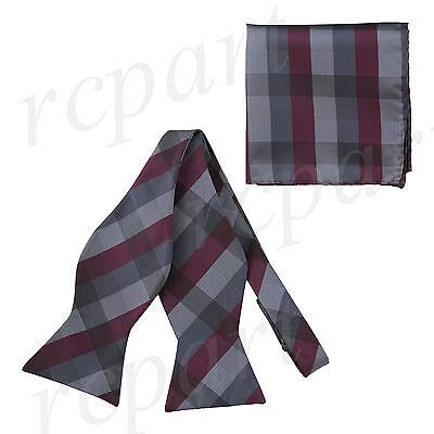 Inventivo Nuove In Scatola Marca Q Uomo Self-tied Cravatta A Farfalla & Fazzoletto Vendita Calda 50-70% Di Sconto