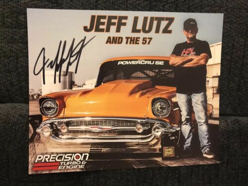 Street Outlaws Jeff Lutz Signed Precision Turbo Promo Card 2018 PRI