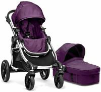 Baby Jogger City Select Stroller Amethyst W Bassinet Pram System Travel 2016