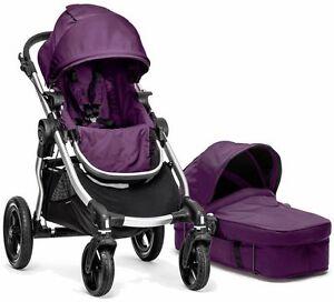 Baby Jogger City Select Stroller Amethyst w Bassinet Pram ...
