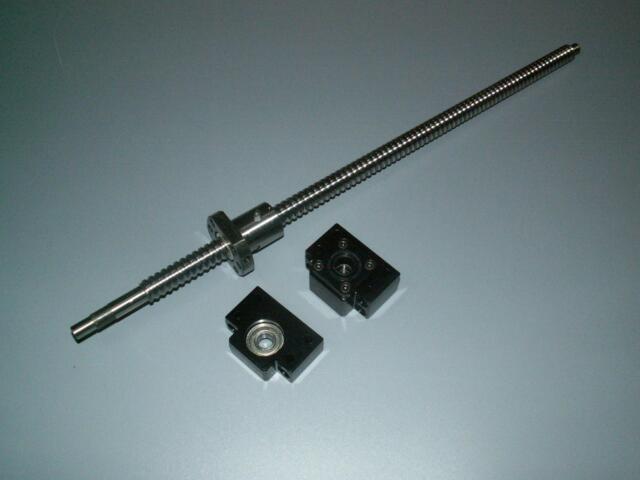 1 anti backlash 25mm ballscrew RM2505-500mm-C7+BK/BF20 end bearing support CNC