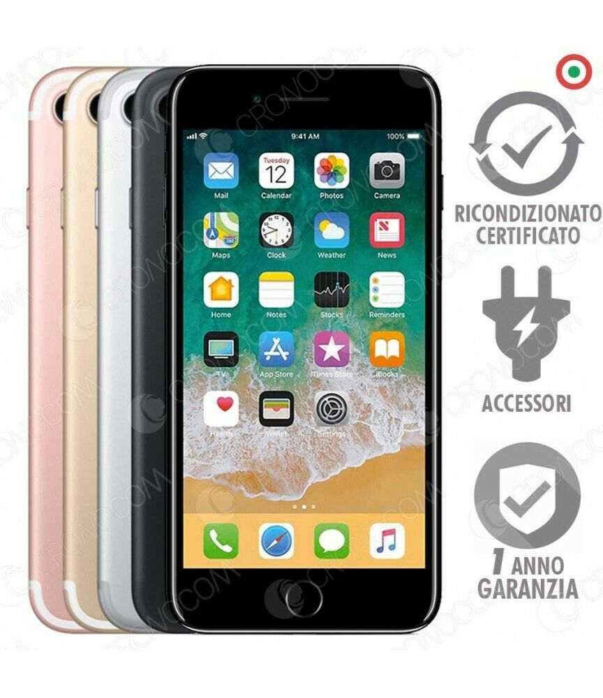 iPhone: IPHONE 7 RICONDIZIONATO 32GB GRADO B NERO SILVER GOLD ROSE APPLE RIGENERATO 