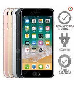 IPHONE 7 RICONDIZIONATO 32GB GRADO B NERO SILVER GOLD ROSE APPLE RIGENERATO 