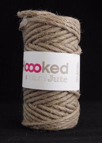Hoooked Natural Jute Cinnamon Taupe Crochet Knitting Yarn 100/% Natural Jute