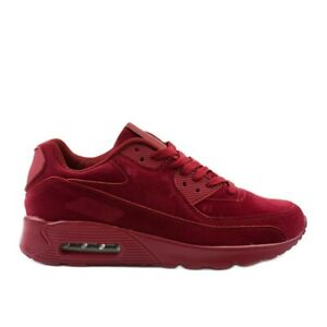 sportif-chaussures-hommes-hommes-rouge-cuir-ecologique-98777