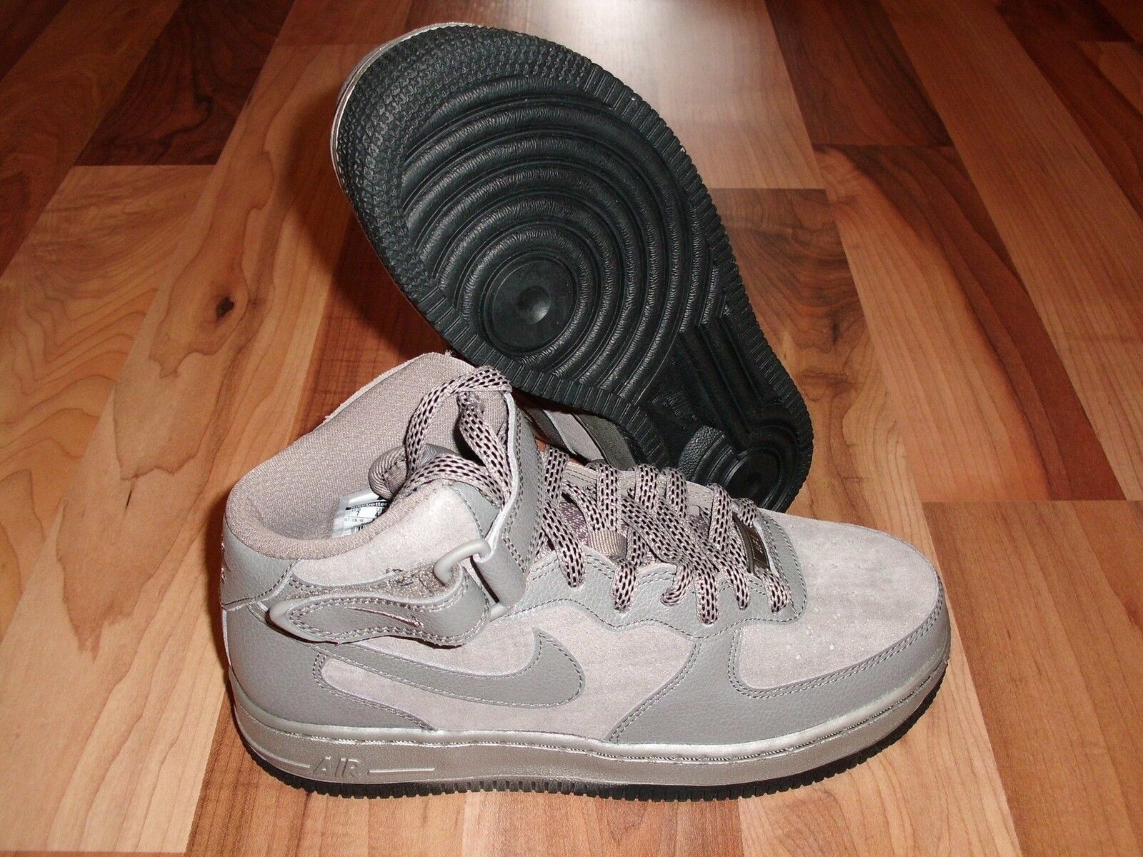 Nike WMNS AIR FORCE 1 MID PRM '07 Metallic grigio 805292 002 SZ 6.5 NEW