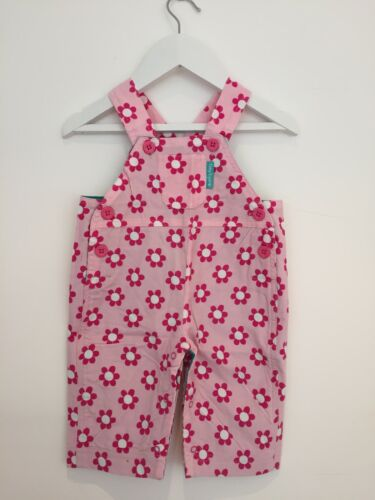 6-12 /& 12-18 months New Toby Tiger Daisy Print Cord Dungarees Size 0-6