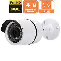 4mp Metal Ip Bullet 3.6mm Camera Outdoor Night Vision 1080p Ip67 Audio Onvif Poe
