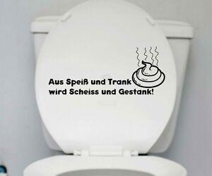 sprüche toilette WC Deckel Aufkleber Trank Toilette Spruch Badezimmer Klo Bad  sprüche toilette