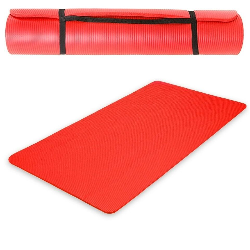 Andet, Yogamåtte 190 x 100 x 1,5 cm rød