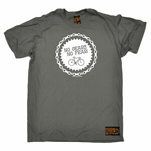 No-Gears-No-Fear-Cycling-T-SHIRT-tee-jersey-funny-birthday-gift-present-for-him