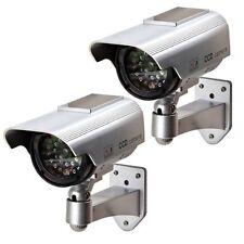 Dummy Security Cameras - 2 x SOLAR POWERED FAKE CCTV CAMERAS LED LIGHT