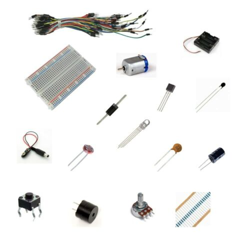Electronics Starter Kit F for Arduino  Breadboard-Resistor-Motor-Wires-Capacitor