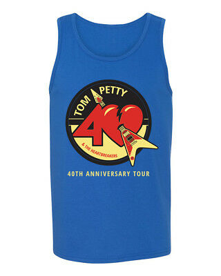tom petty the heartbreakers 40th anniversary mens tank. Black Bedroom Furniture Sets. Home Design Ideas