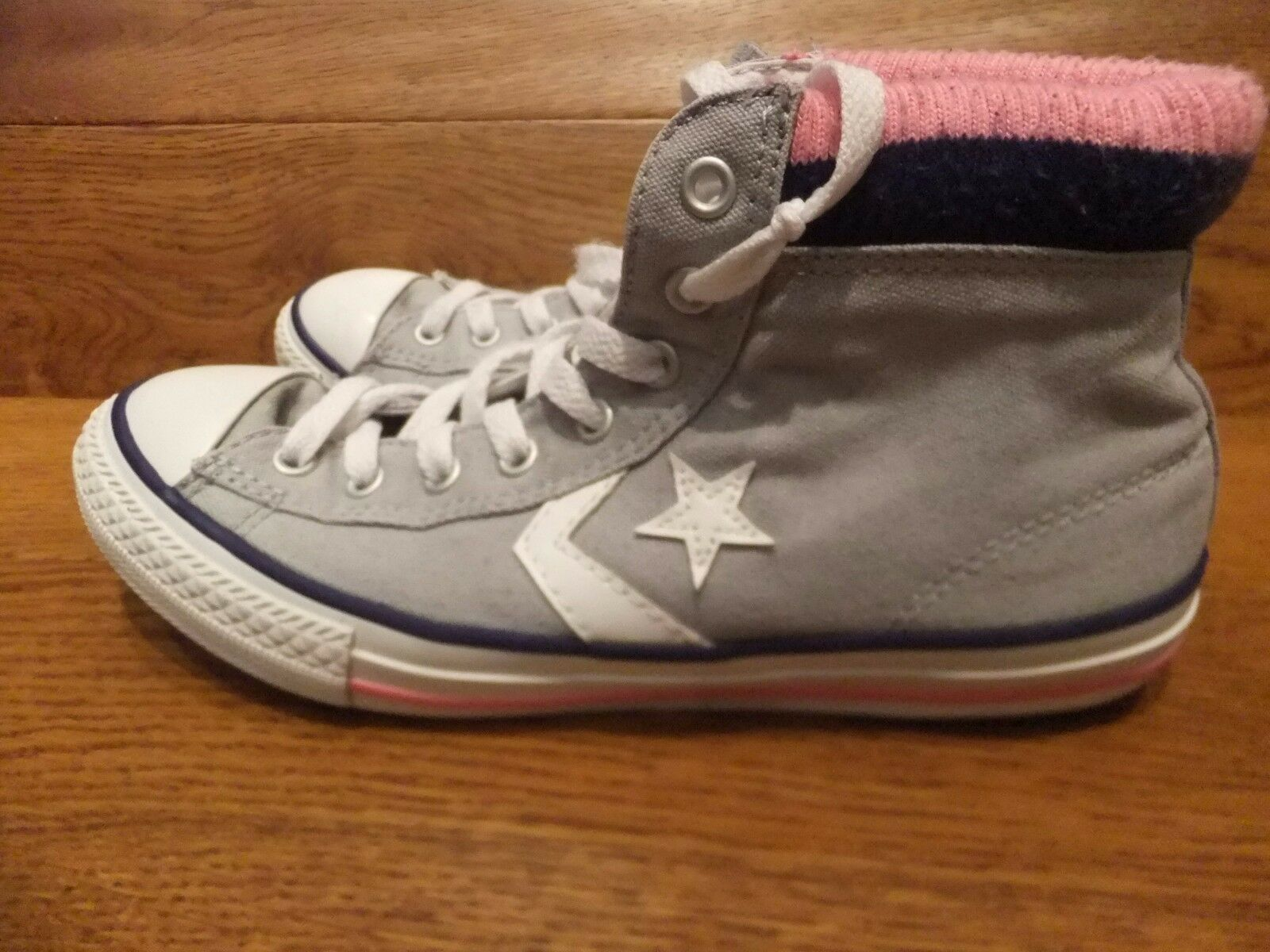 Converse Star Toile Player Gris Toile Star Baskets Montantes Taille UK 5 EUR 38 f815c1