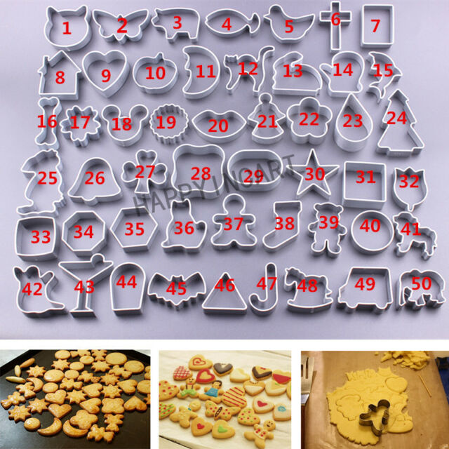 10pcs Baking Sugar Cake Biscuit Cookie Cutter Decoration Mould Mold Tool