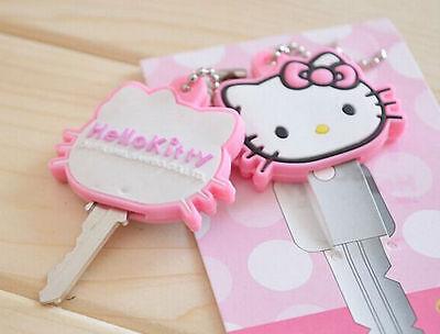 Hello Kitty Animal Key Cap Cover Ball Chain Pink