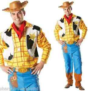 Mens Deluxe Disney Woody Toy Story Cowboy toy Fancy Dress Costume ... 07bcf25c645